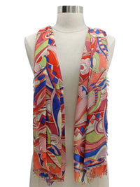 Colorful Paisley Lightweight Scarf