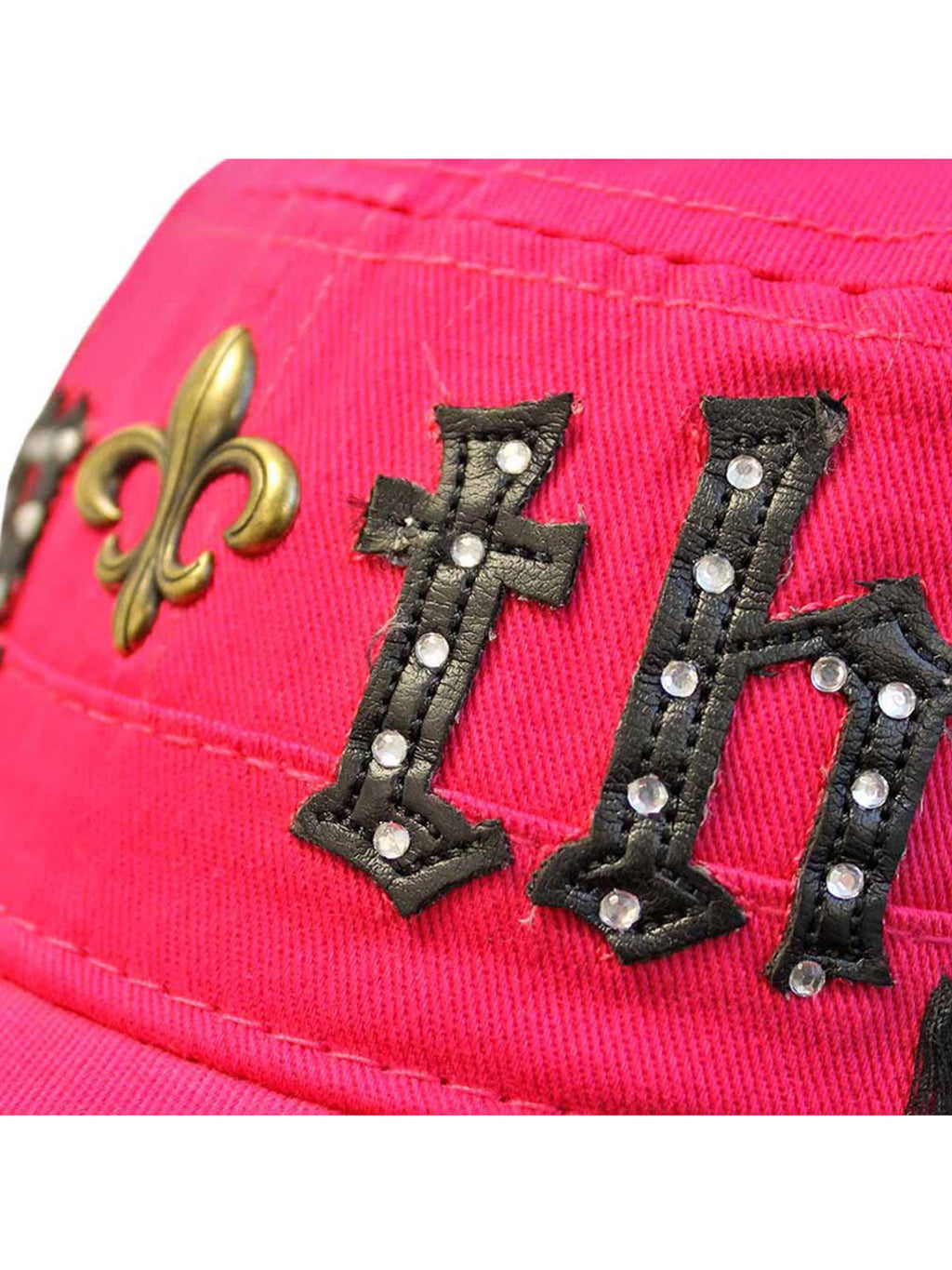 Cotton Cadet Cap Hat With Faith Emblem