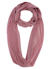 Sheer Metallic Infinity Scarf