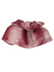 Burgundy Gradient Faux Cloche Fur Caplet Shawl