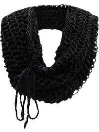 Crocheted Knit Infinity Scarf Shawl