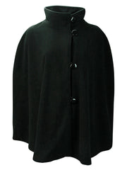 Black Fleece 3 Button Poncho Shawl