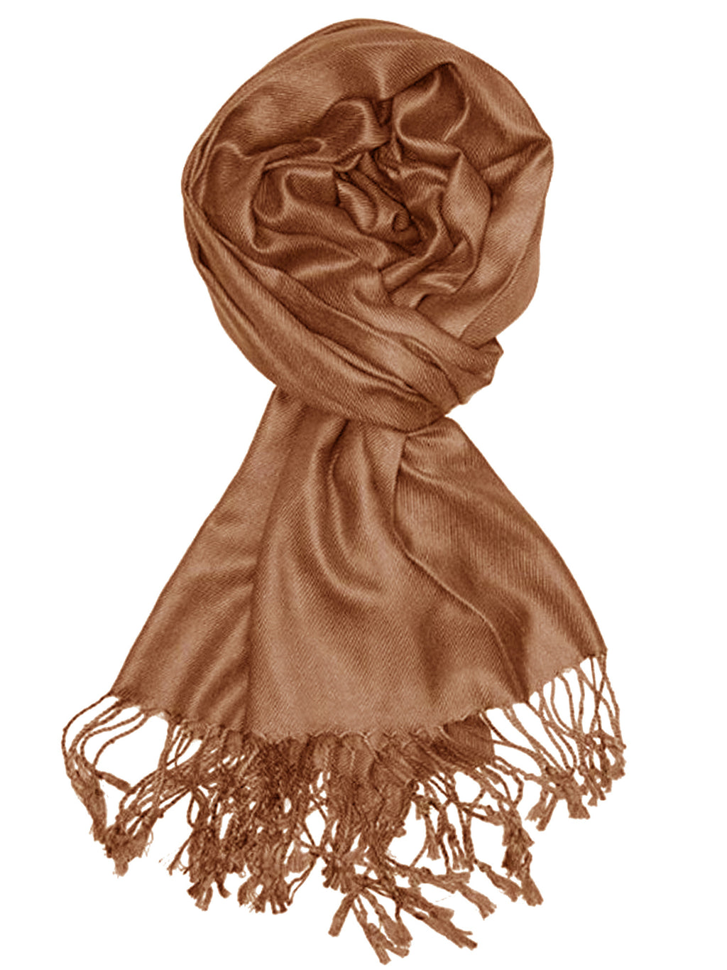 Solid Color Pashmina Scarf Wrap With Fringe