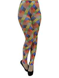 Harlequin Print Leggings Tights
