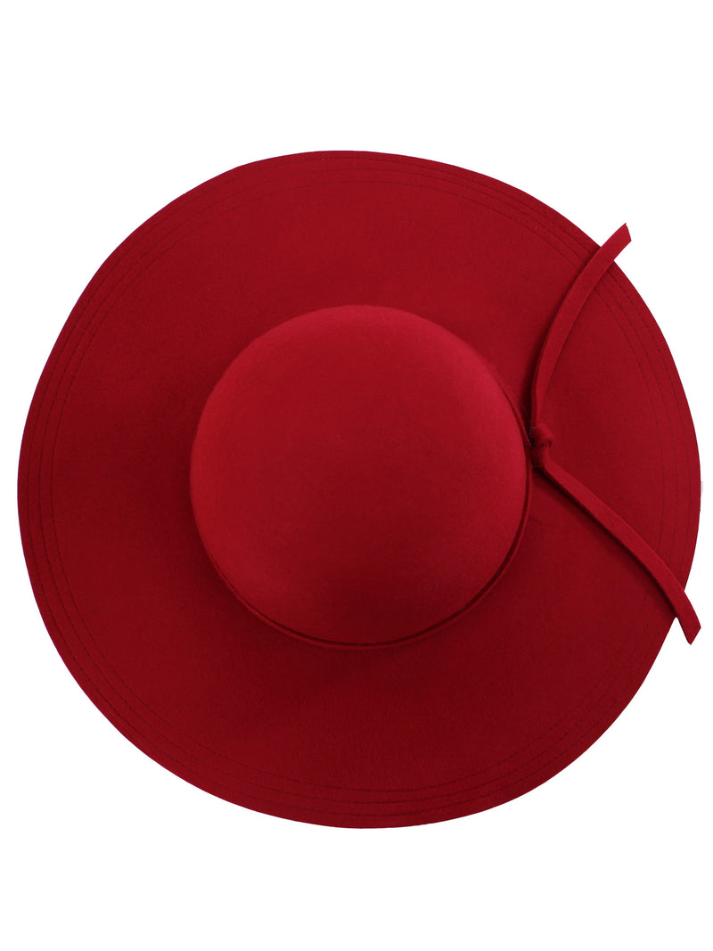 Wide Brimmed Wool Floppy Hat