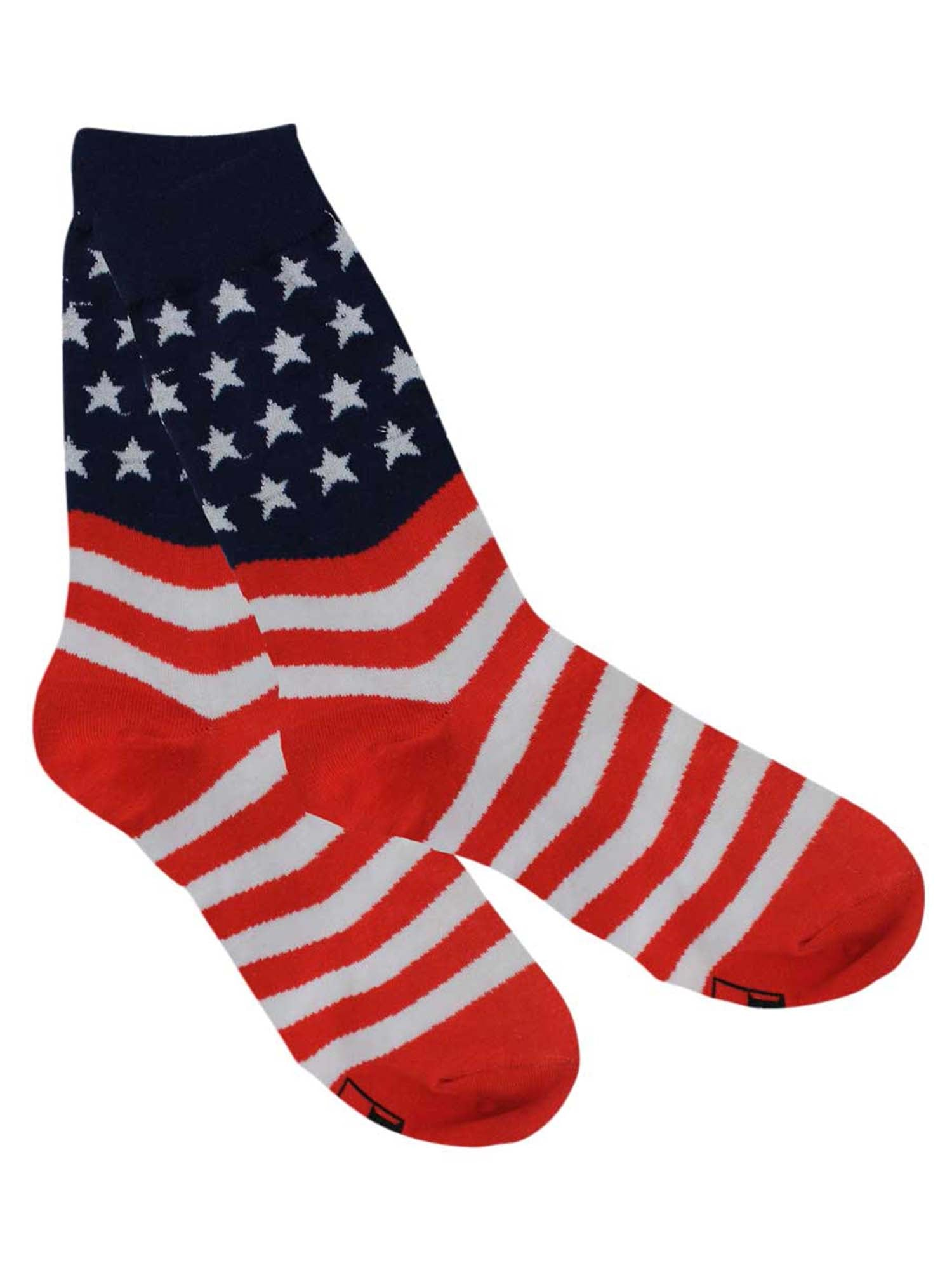 American Flag Red White & Blue Mens Novelty Crew Socks