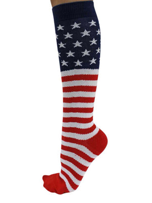 American Flag Knit Knee High Socks