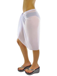 Sheer Knee Length Cover Up Sarong Wrap for Women