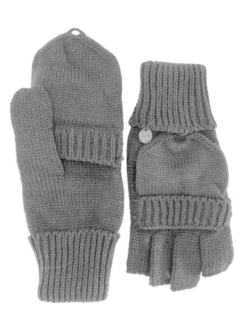 Knit Fingerless Gloves With Mitten Cover