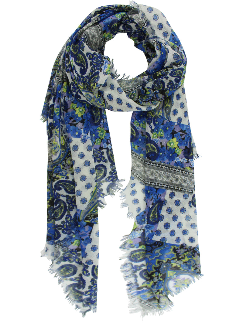 Floral Paisley Shawl Wrap