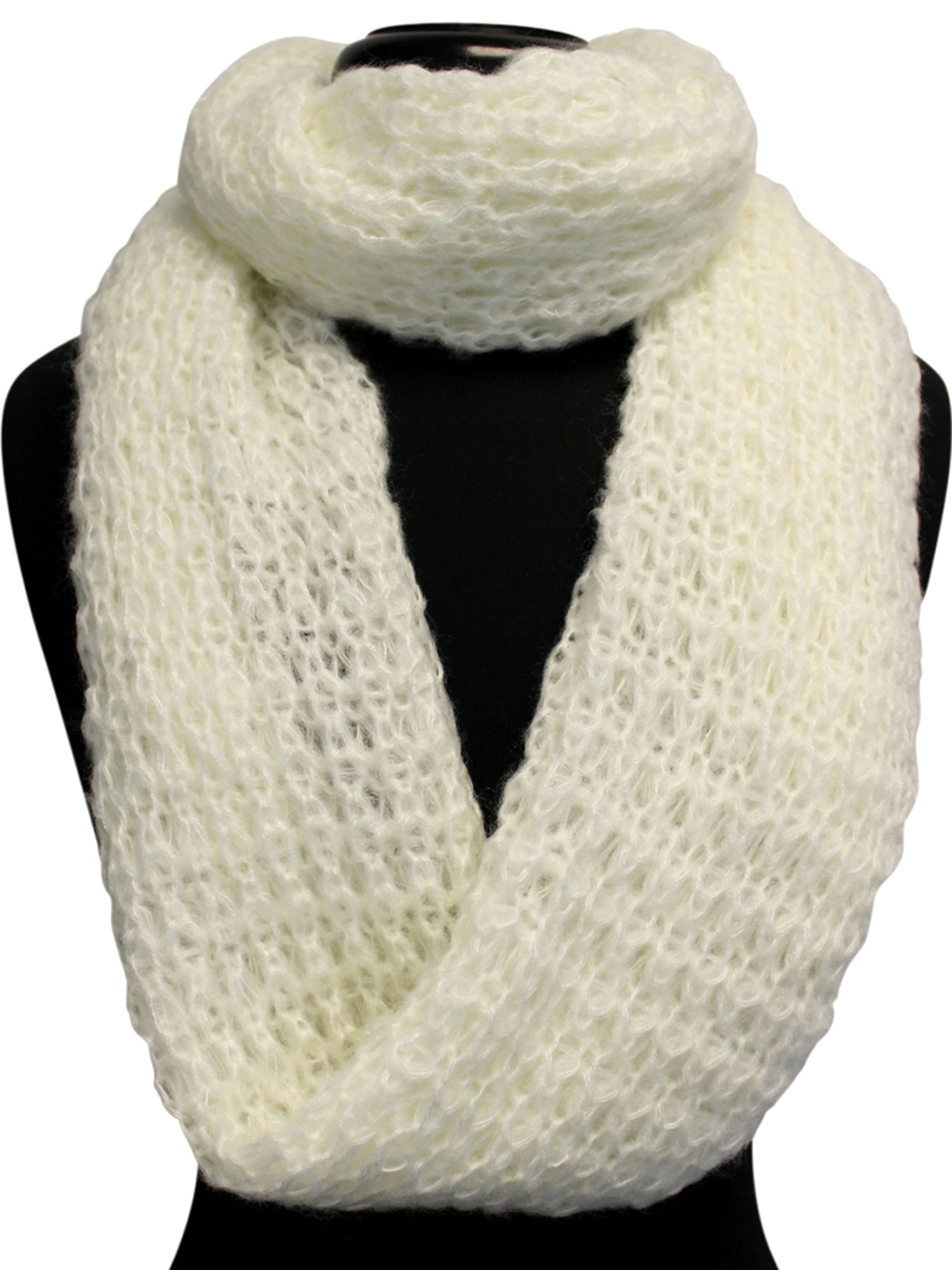 Mohair Winter Knit Infinity Scarf