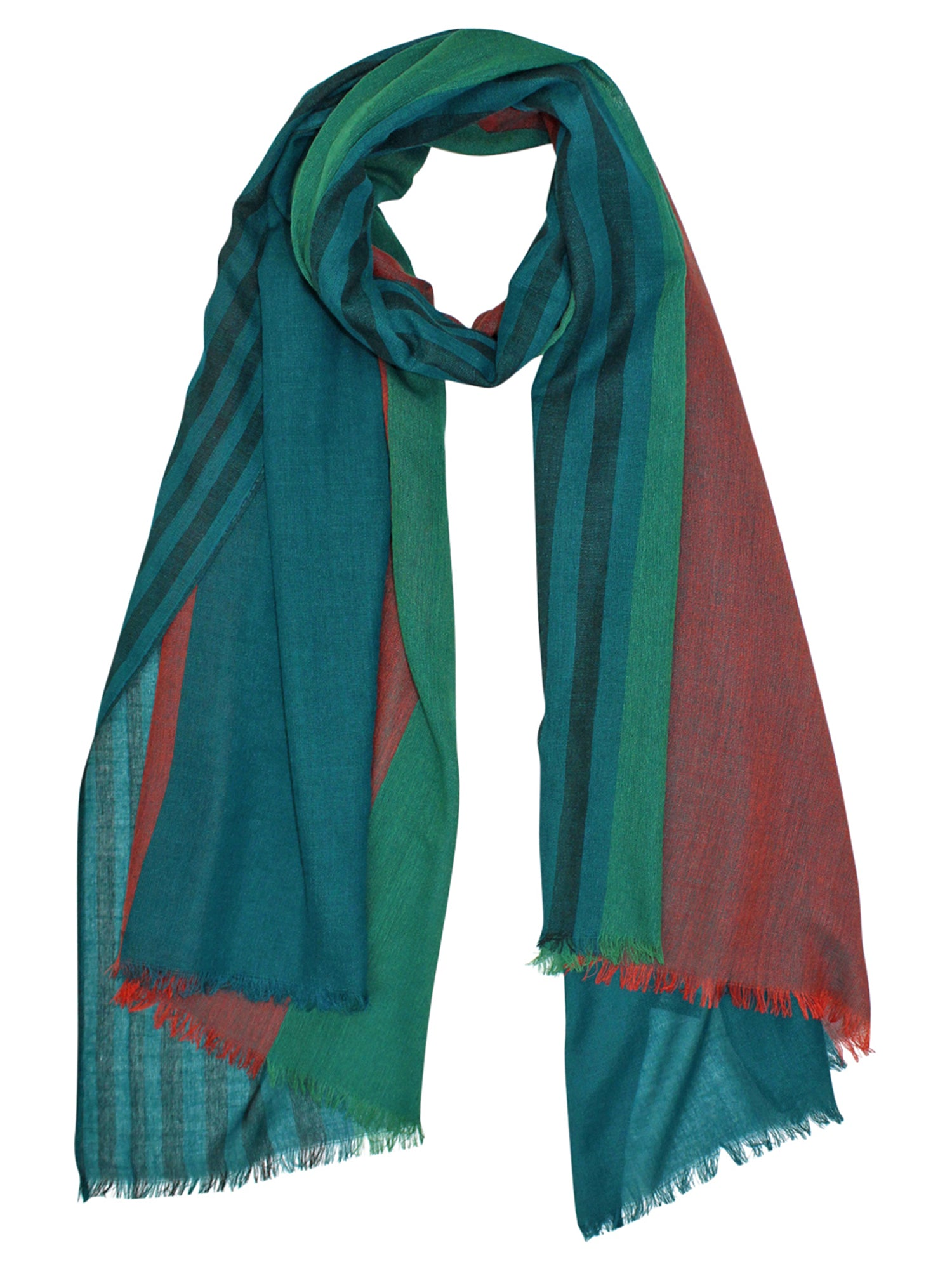 Silky Striped Light Scarf Shawl