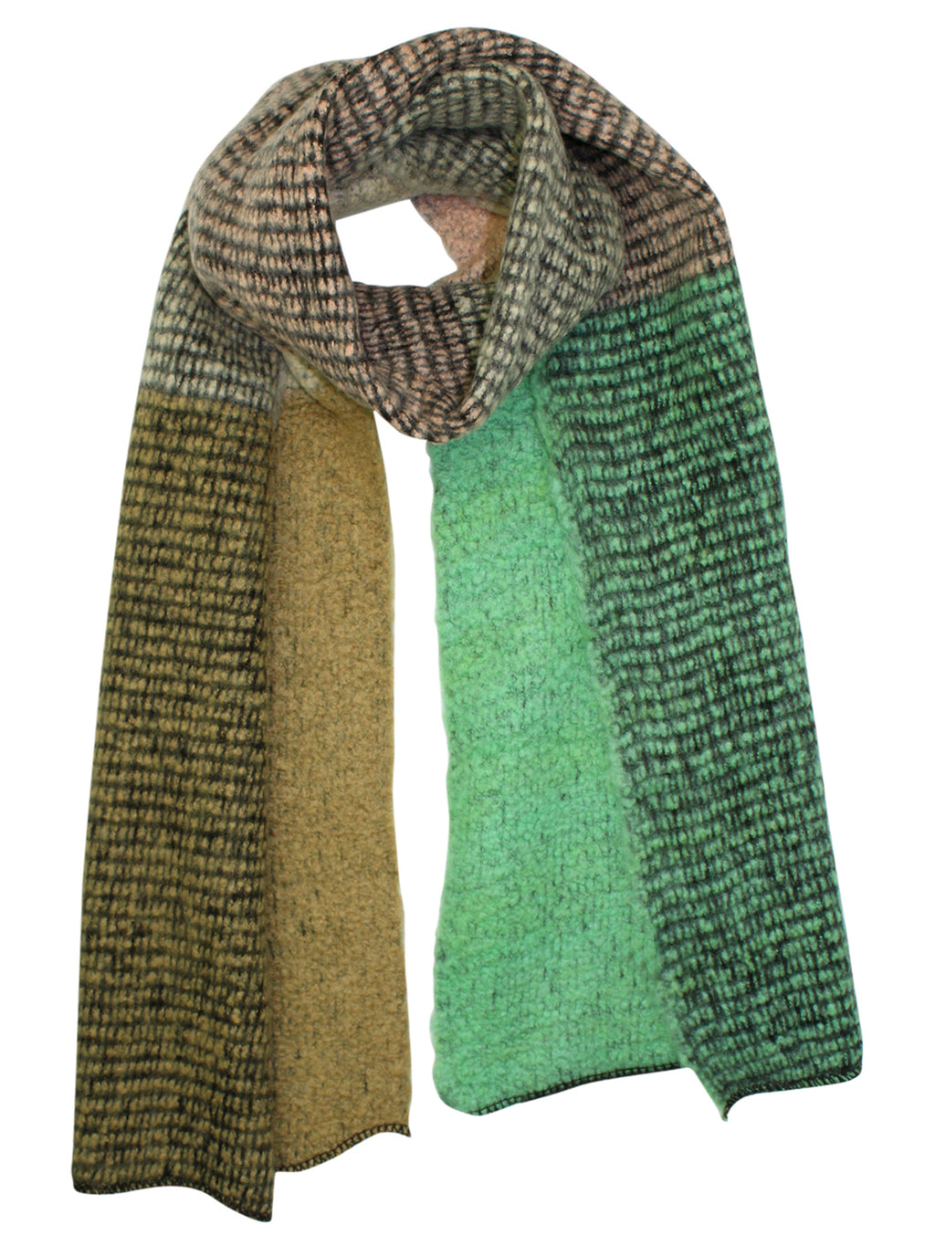 Multicolor Oversize Fuzzy Blanket Scarf