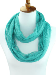 Elegant Lace Light Ring Infinity Scarf