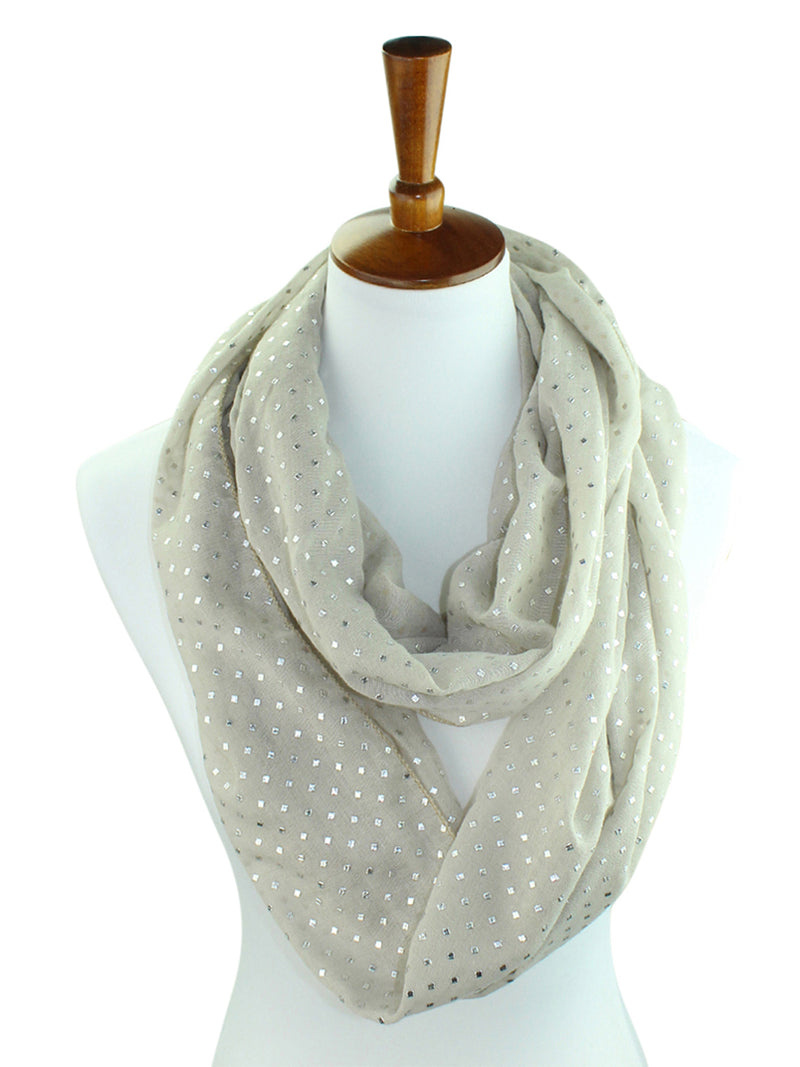 Ring Infinity Scarf With Silver Studs