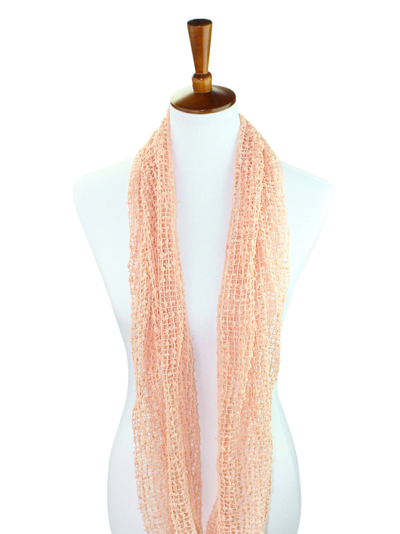 Mesh Net Infinity Scarf With Sequin Accent