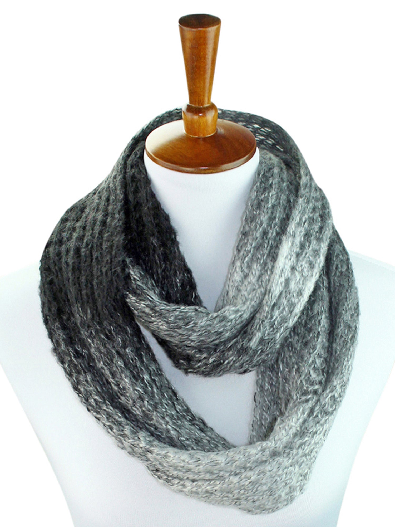 Gradient Ombre Winter Unisex Infinity Circle Scarf Scarf
