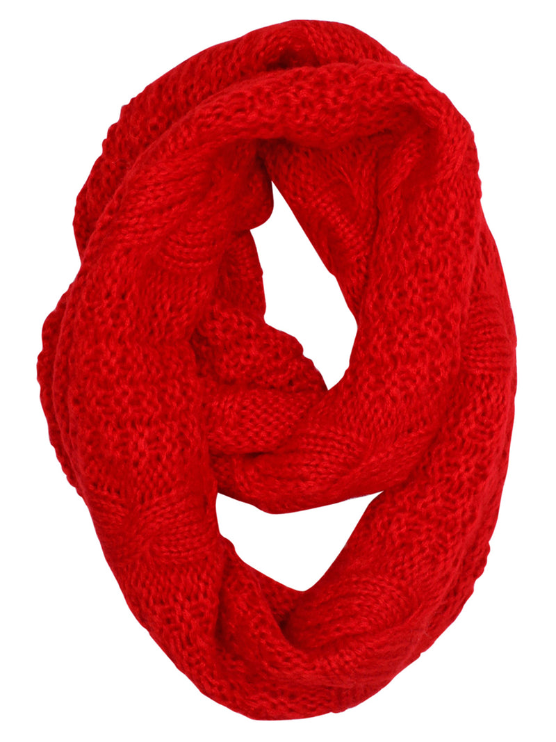 Cable Knit Winter Infinity Scarf