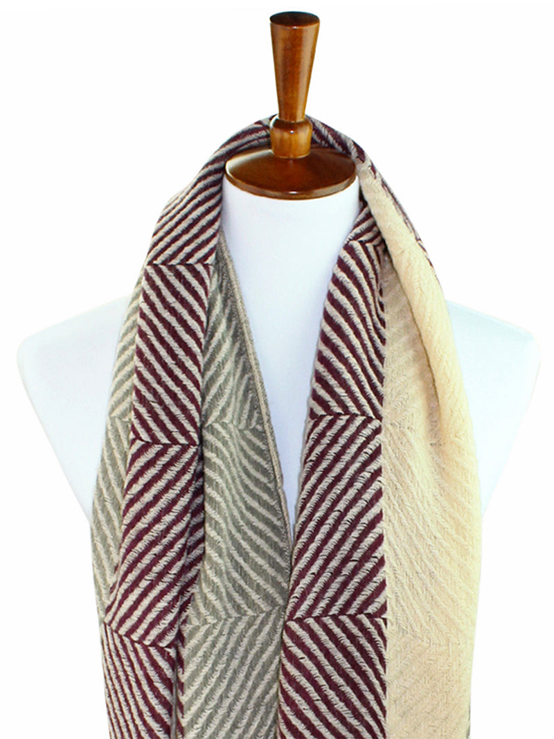 Herringbone Twill Winter Infinity Scarf