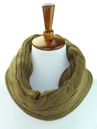 Cable Knit Neck Warmer With Fleece Lining