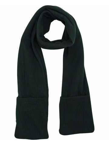 Heated Fleece Unisex Winter Scarf With Pockets
