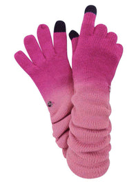Knit Ombre Texting Gloves & Scarf Set