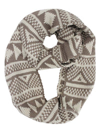 Nordic Print Winter Knit Unisex Infinity Scarf