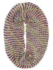 Multicolor Soft Winter Knit Infinity Scarf