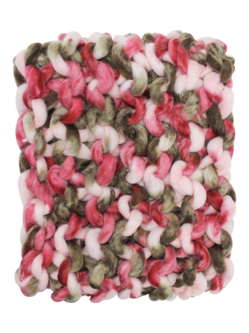 Chunky Rope Knit Neck Warmer Infinity Scarf