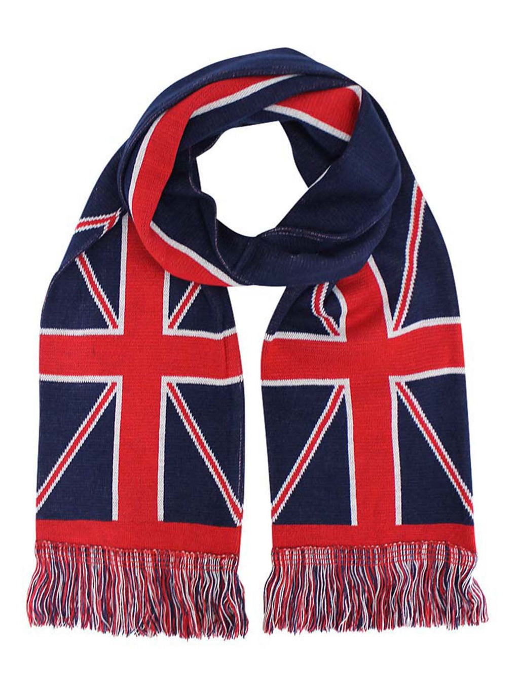 British Flag Ribbed Knit Beanie Hat & Scarf Unisex Matching Set