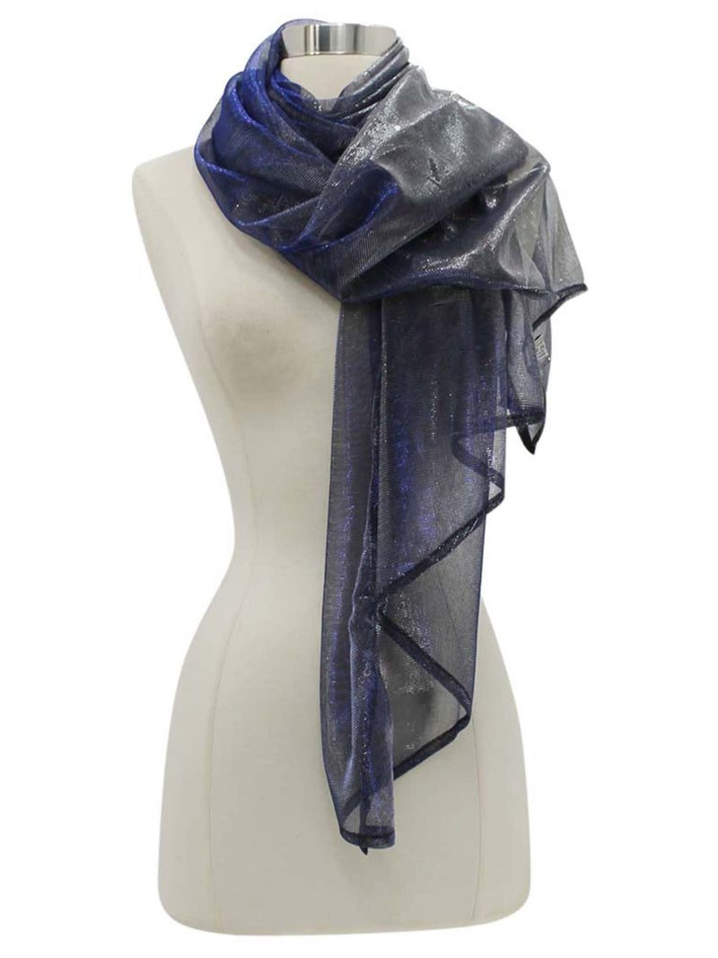 Metallic Lightweight Mesh Scarf Wrap