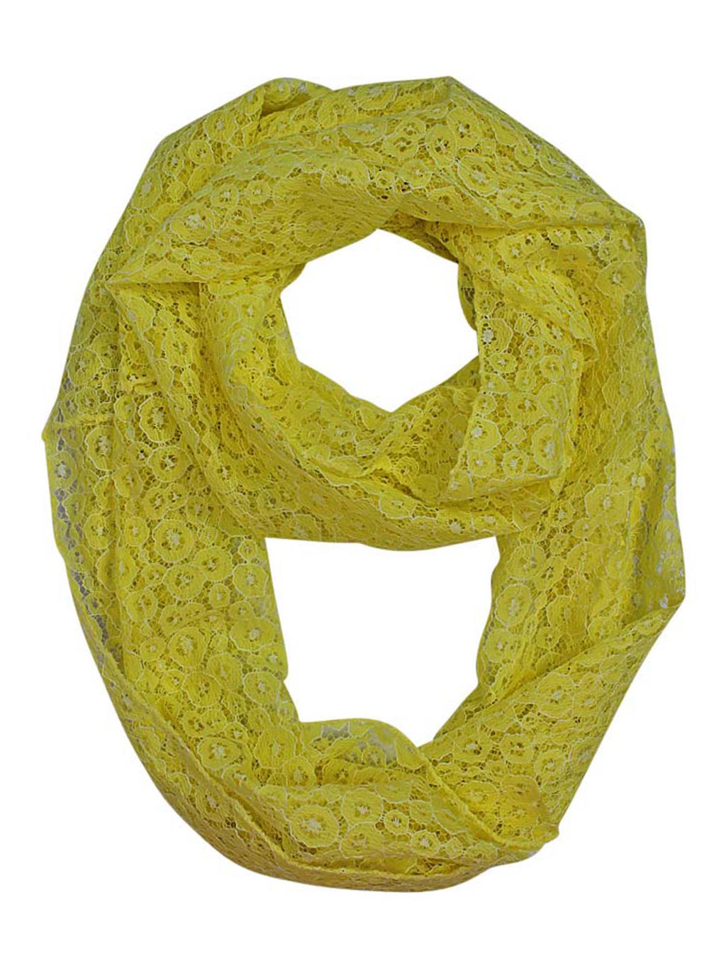 Peach All Lace Lightweight Circle Summer Scarf
