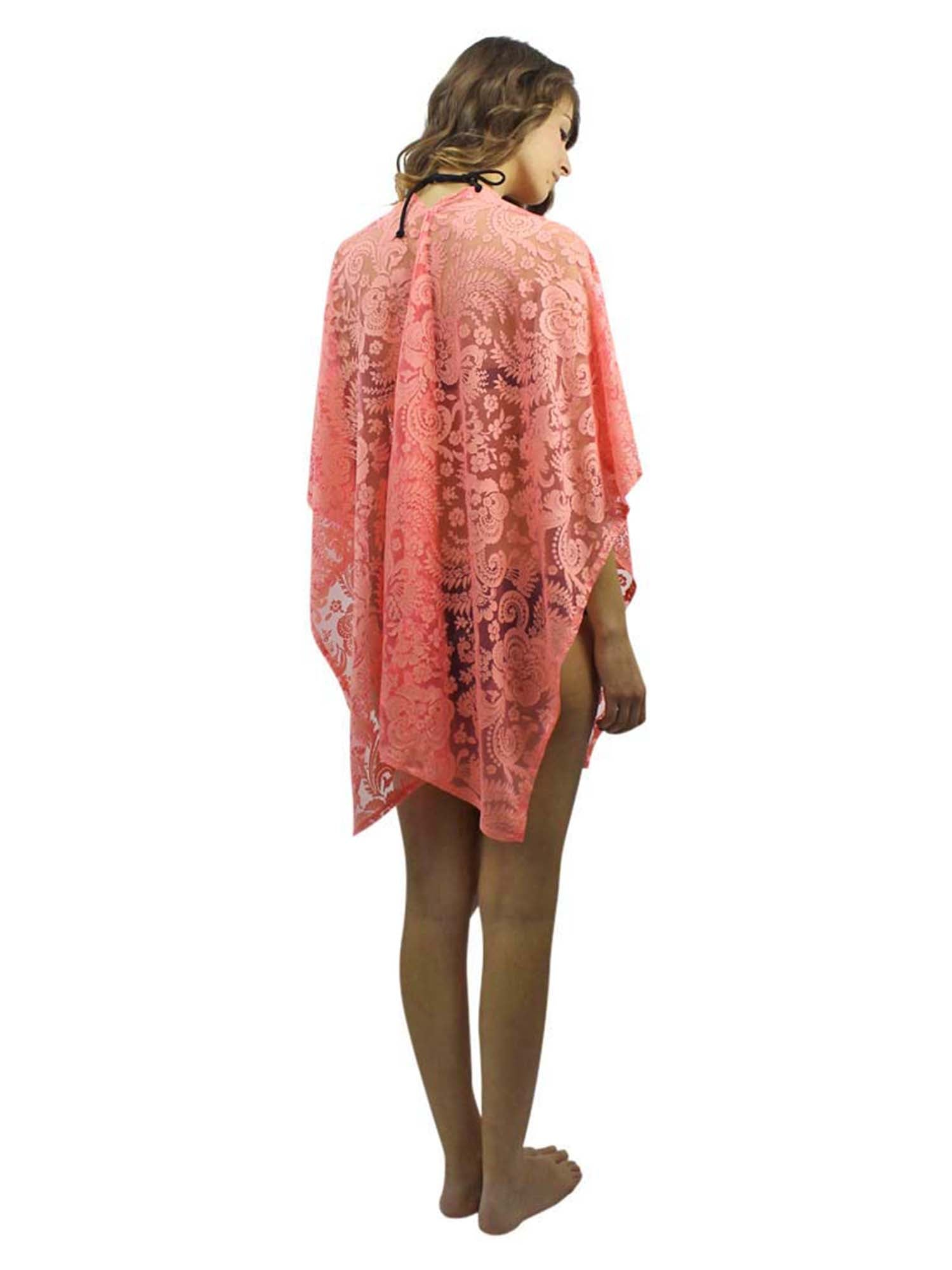 Sheer Lace Summer Shawl Cover Up Beach Wrap
