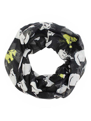 Black & White Cat Lovers Lightweight Infinity Scarf
