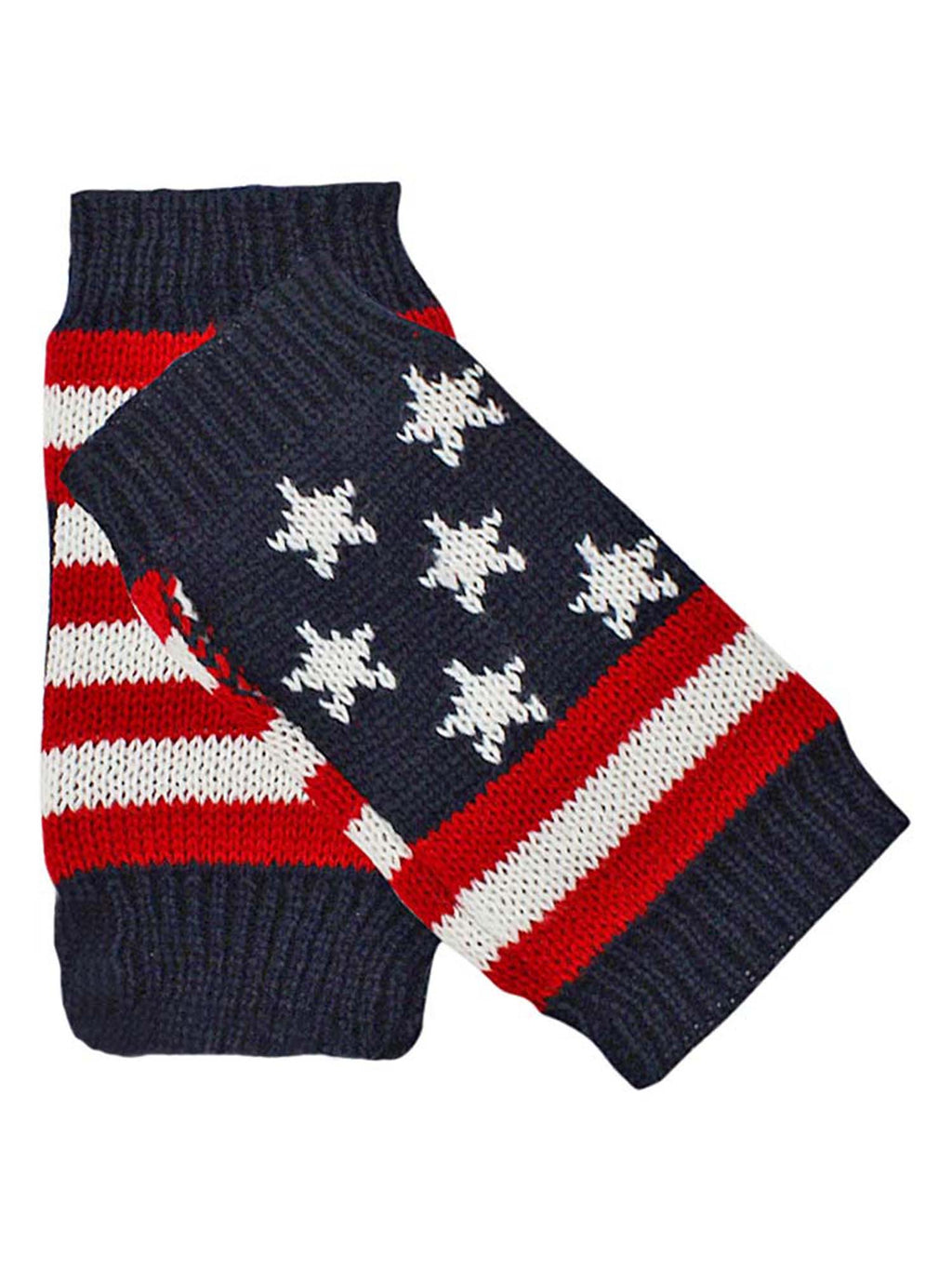 American Flag Knit Fingerless Glove Arm Warmers