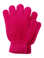 White Red Purple Fuchsia Chenille 4 Pack Knit Winter Gloves
