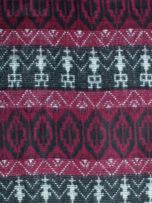 Burgundy Tribal Print Cashmere Feel Unisex Scarf