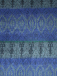 Blue Tribal Print Cashmere Feel Unisex Scarf
