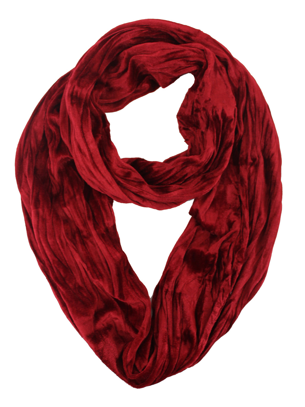 Red Velvet Infinity Circle Scarf