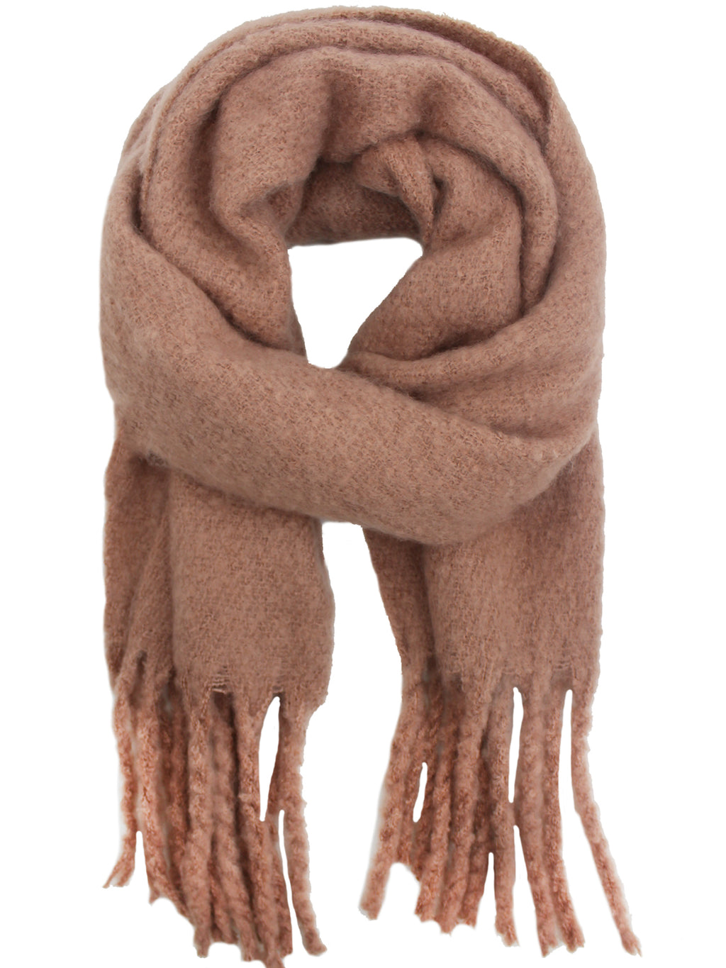 Pink Ultra Soft Long Fringed Scarf