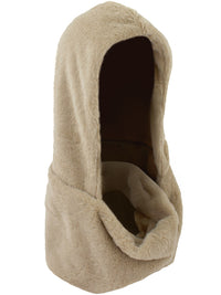 Taupe Faux Fur Infinity Hooded Scarf