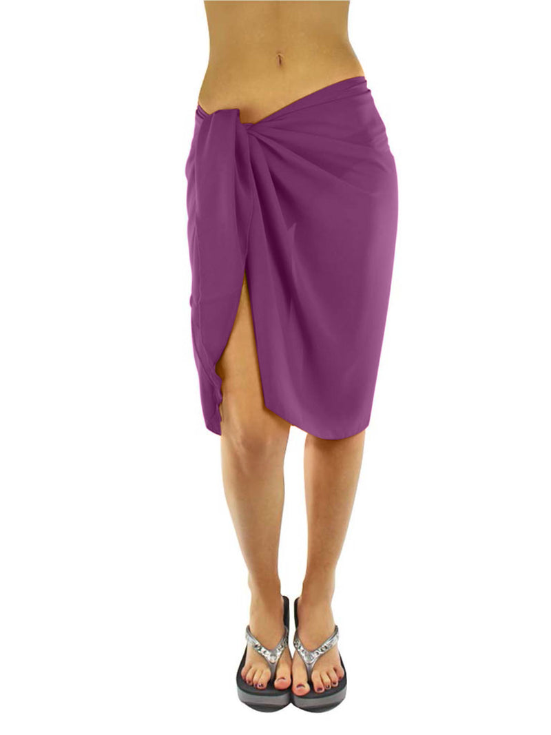 Sheer Knee Length Sarong Wrap For Women