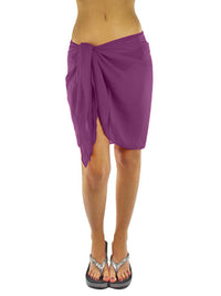 Womens Short Sarong Wrap Cover Up