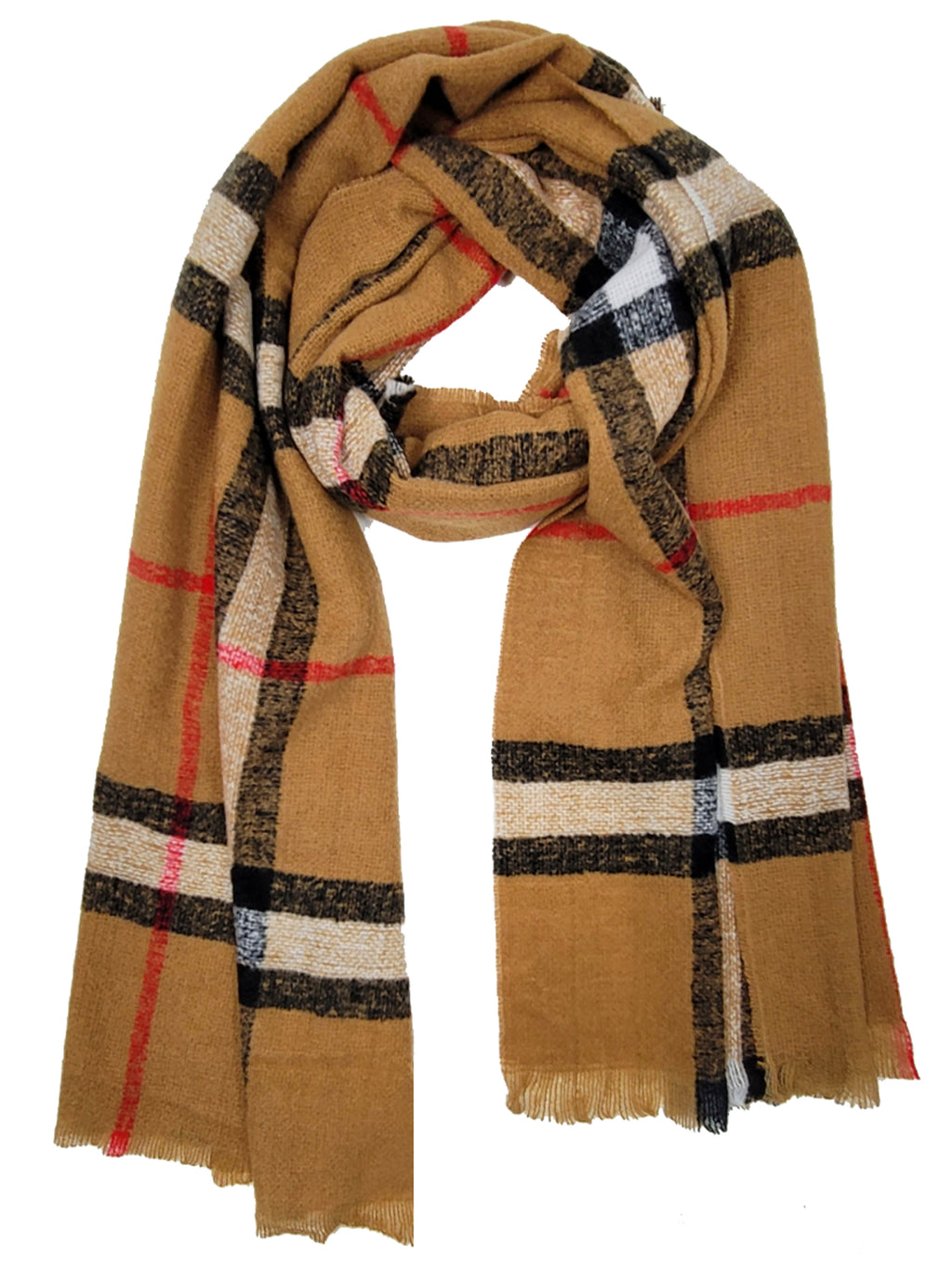 Plaid Oblong Super Soft Winter Scarf