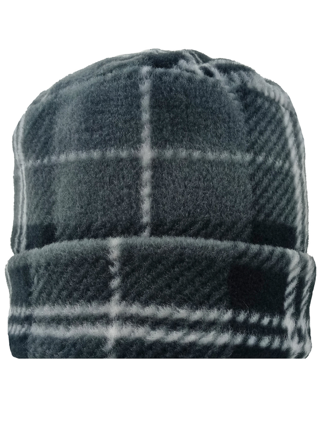 Charcoal Plaid Fleece 3 Piece Hat Scarf & Gloves Matching Set