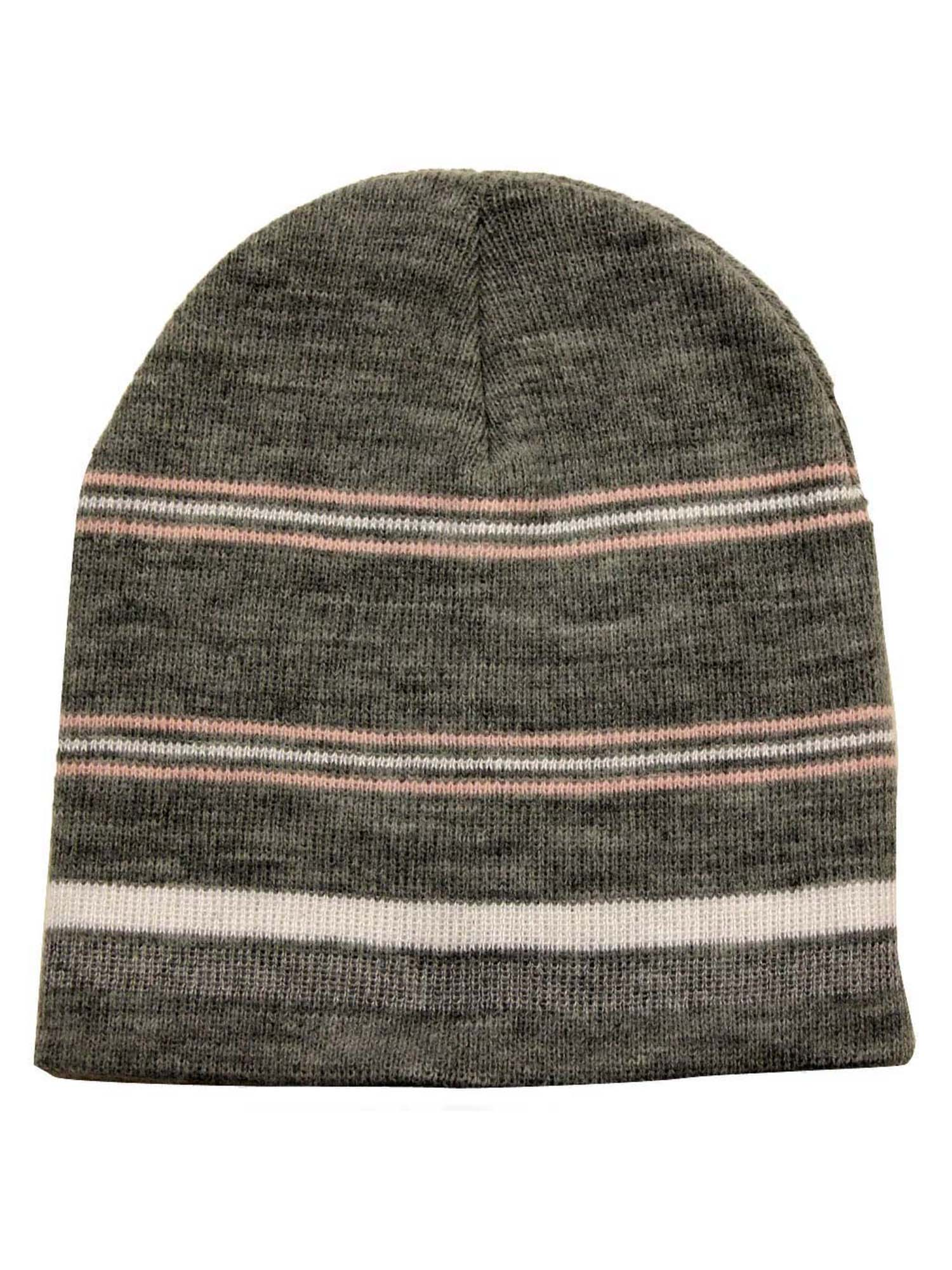 Striped Tight Fitting Beanie Hat