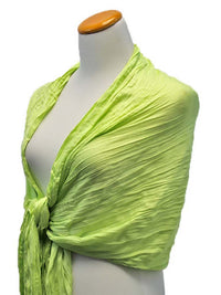 Silky Scrunch Long Fringe Scarf Wrap