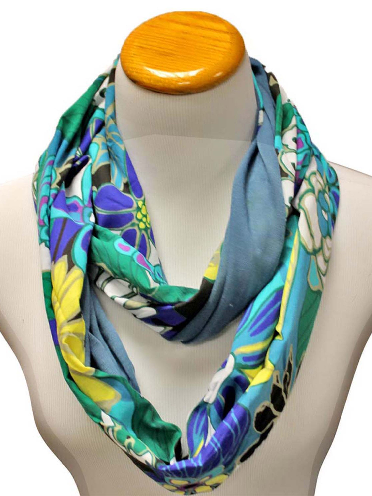 Colorful Abstract Print Circle Infinity Scarf