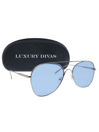 Retro Aviator Sunglasses With Case