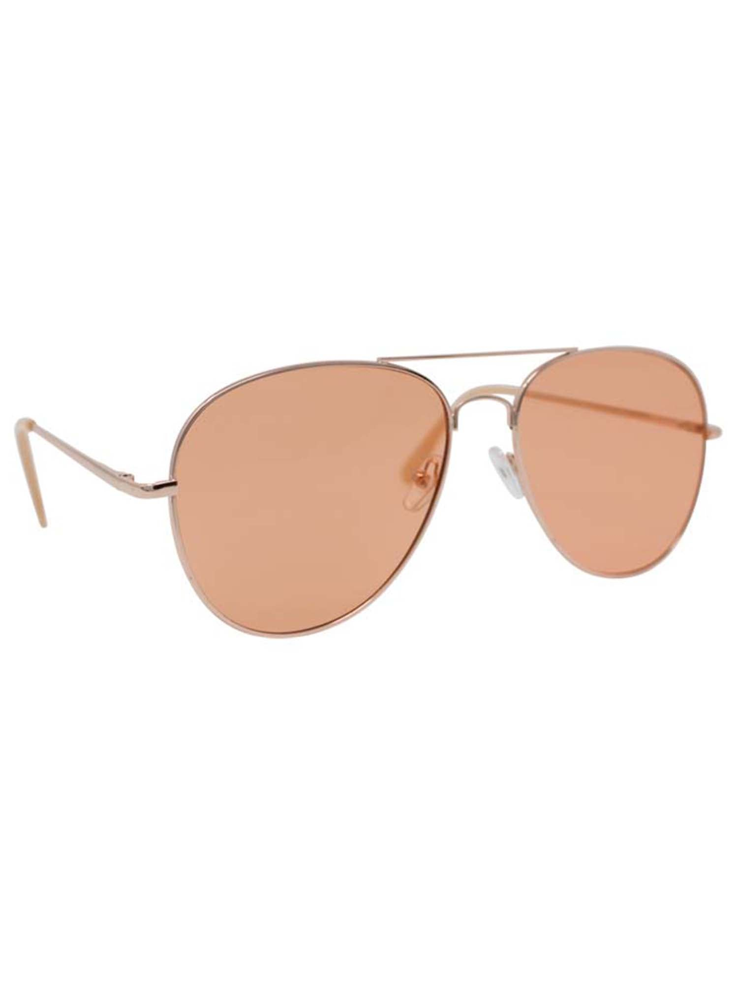 Pastel Color Aviator Style Sunglasses With Case